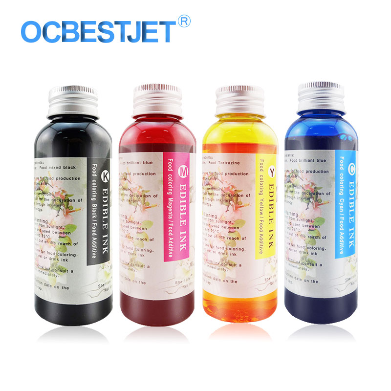 Edible Ink For Canon For HP For Epson Printer Food Ink Cake Coffee Chocolate Safe Food Additive Coffee Machine Ink