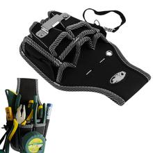 9 in1 Electrician Waist Pocket Tool Belt Pouch Bag Screwdriver Utility Holder 2016 Waist Pockets useful top Worldwide sale(China)