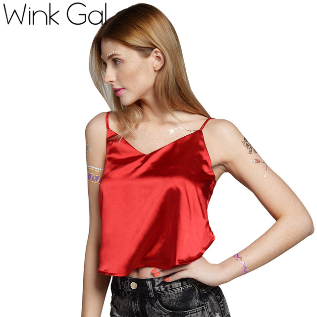 Wink Gal Top Curto Tanques Camisoles Mulheres Tops Roupas Para As Mulheres Tiras Bralette Bralet W10169