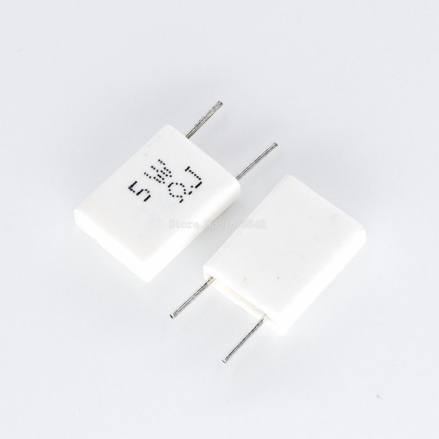 10 sztuk BPR56 5W 0.001 0.1 0.15 0.22 0.25 0.33 0.5 ohm nieindukcyjne ceramiczny rezystor cementowy 0.1R 0.15R 0.22R 0.25R 0.33R 0.5R