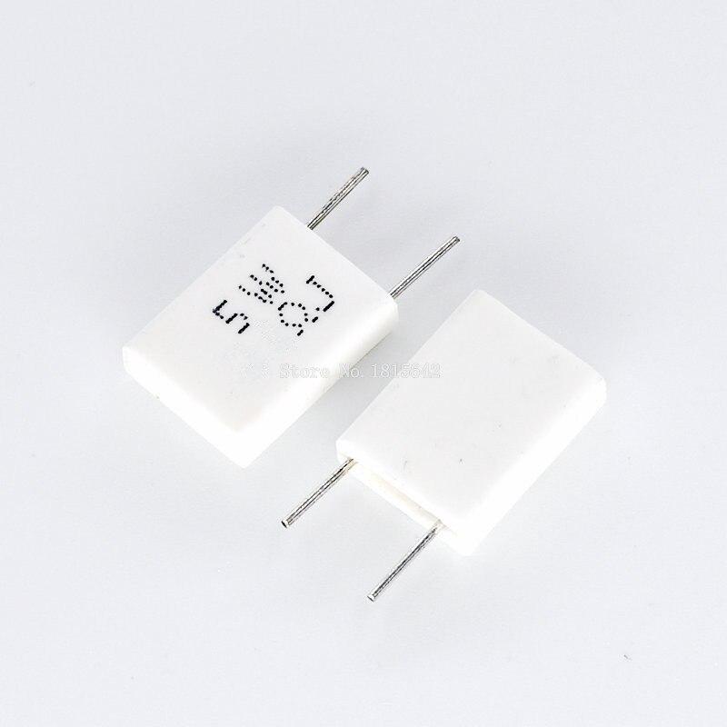 10pcs 5W 0.1 0.15 0.22 0.25 0.33 0.5 Ohm Non-inductive Ceramic Cement Resistor 0.1R 0.15R 0.22R 0.25R 0.33R 0.5R Resistance