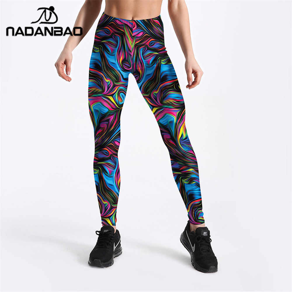 8b147dabdf93f4 Detail Feedback Questions about NADANBAO Ray Fluorescence Leggings Women  Colorful Striped High Waist Plus Size Legging Workout Elastic Abstract Art  Pant on ...