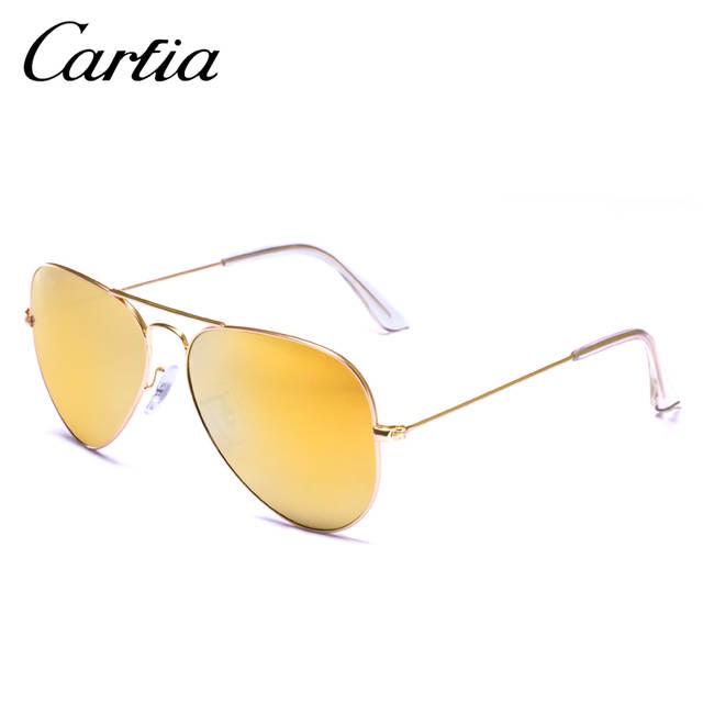 24a0111784 Carfia Aviator Sunglasses Classic Pilot Sun Glasses For Men Women Brand  Designer Blue Green Pink 100
