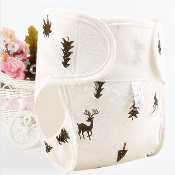 Хлопковые детские подгузники, подгузники, многоразовые стираемые тканевые подгузники, непромокаемые подгузники для новорожденных, трусики для тренировок, подгузники с карманами - Цвет: Deer
