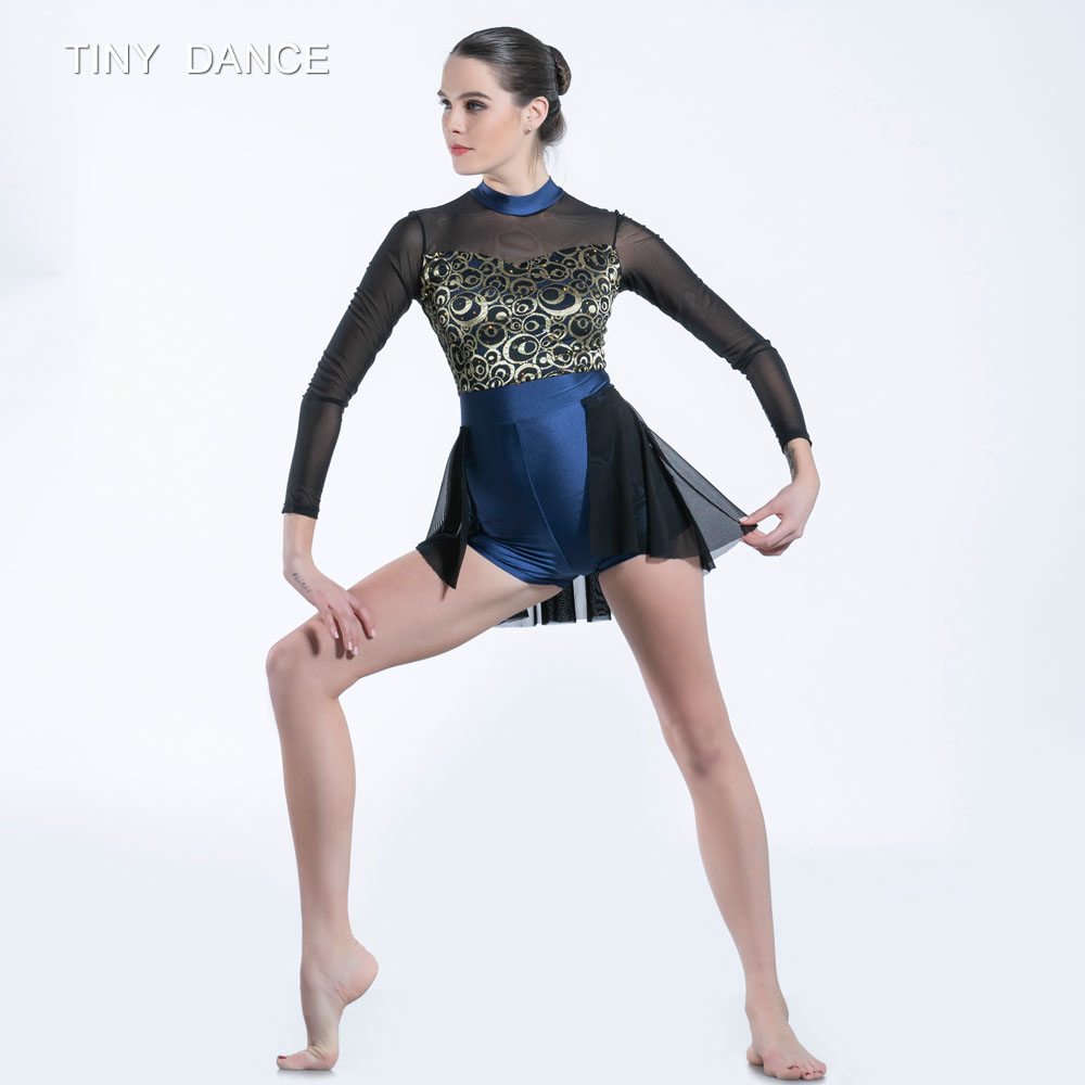 6e185809fde6 Aliexpress.com : Buy Child & Adult Black Long Sleeve Mesh and Sequin Bodice Ballet  Dress Lyrical and Contemporary Dance Costume 11 Sizes 19050 from Reliable  ...
