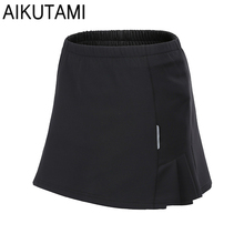 Womens Tennis Skorts Pantskirt Double Layer Breathable Polyester Anti-emptied Fitness Sports Shorts Skirts Badminton Cycling