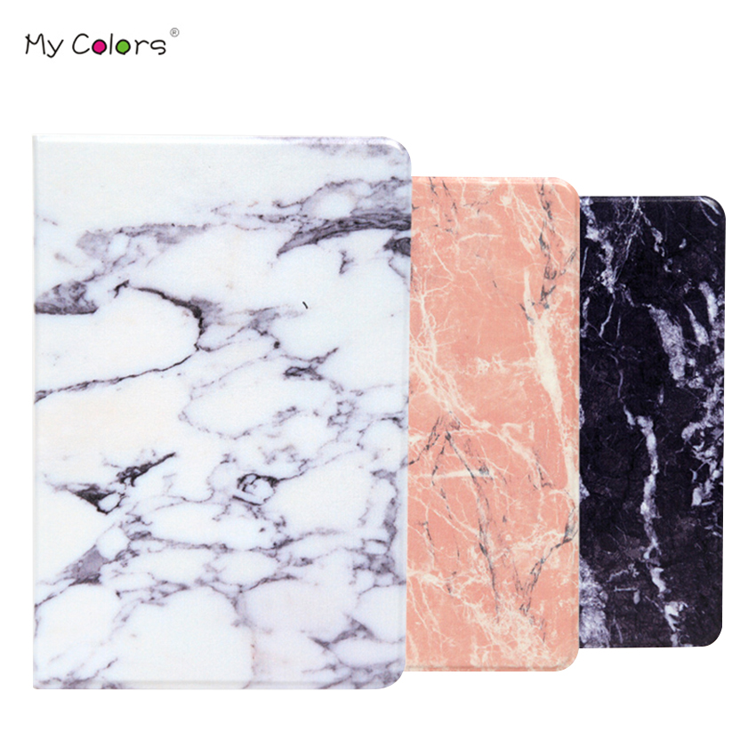 все цены на For iPad mini 2 3 PU Leather Case Cover 7.9'' Marble Protective Stand Skin For Apple iPad mini2 Mini3 Smart mini Shockproof Case онлайн