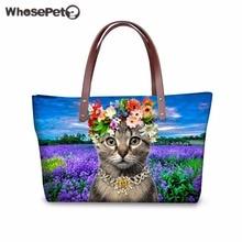 WHOSEPET 3D Katzen Frauen Handtaschen Hochwertige Schulter Taschen Für Mädchen Top-griff Tasche Große Kapazität Mode Reisetaschen verschiffen