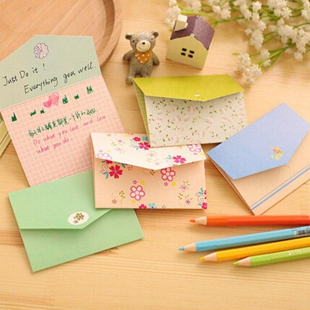 6 unids/lote floral plegable tarjeta de felicitación gracias tarjeta de cumpleaños Navidad tarjetas invitaciones de boda fuentes del partido