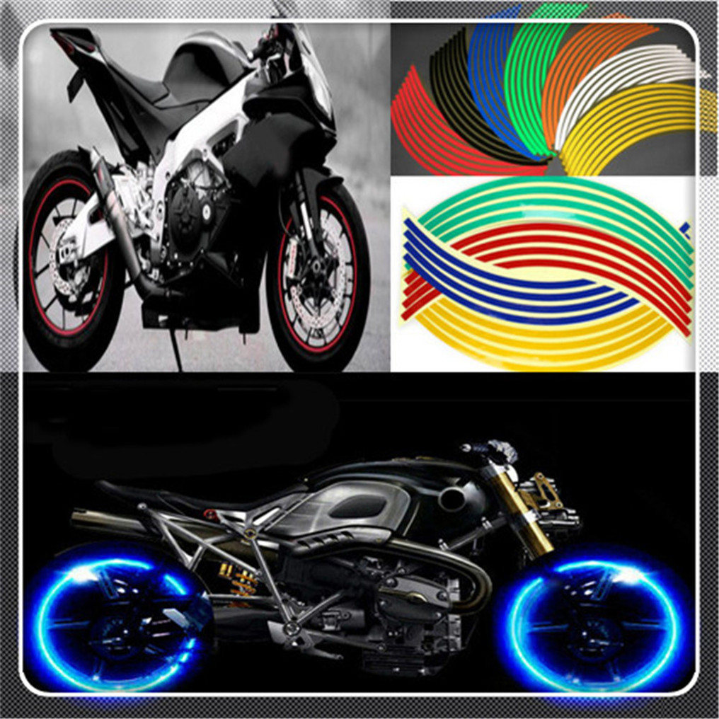 17 18 reflective motorcycle tire rim stripe wheel sticker for ktm bajaj pulsar 200 ns 1190 adventure r 1050 rc8 duke in decals stickers from automobiles