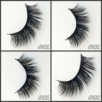 UPS Free Shipping 500pair/lot 3D Mink Eyelashes Real Cruelty free dramatic false Lashes fluffy Strip Thick Lash faux cils makeup