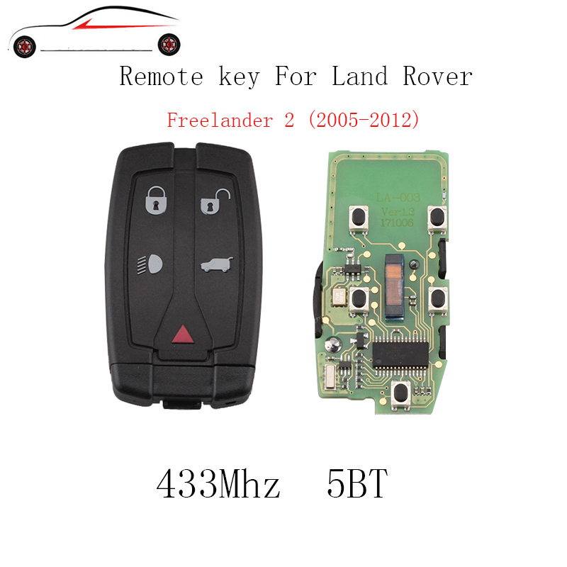 GORBIN 433Mhz Smart Remote Key For Land Rover Freelander 2 2008 2009 2010 2011 2012 For Land Rover LR2 Sport Original keys big discount 1 piece 4 1 button remote key card with 433mhz for land rover freelander 2 2006 2007 2008 2009 2010