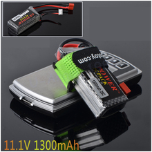 1pcs GE Power 7.4V 11.1V 1300Mah 25C MAX 40C T Plug Lipo Battery 2S 3s for RC Car Airplane Helicopter