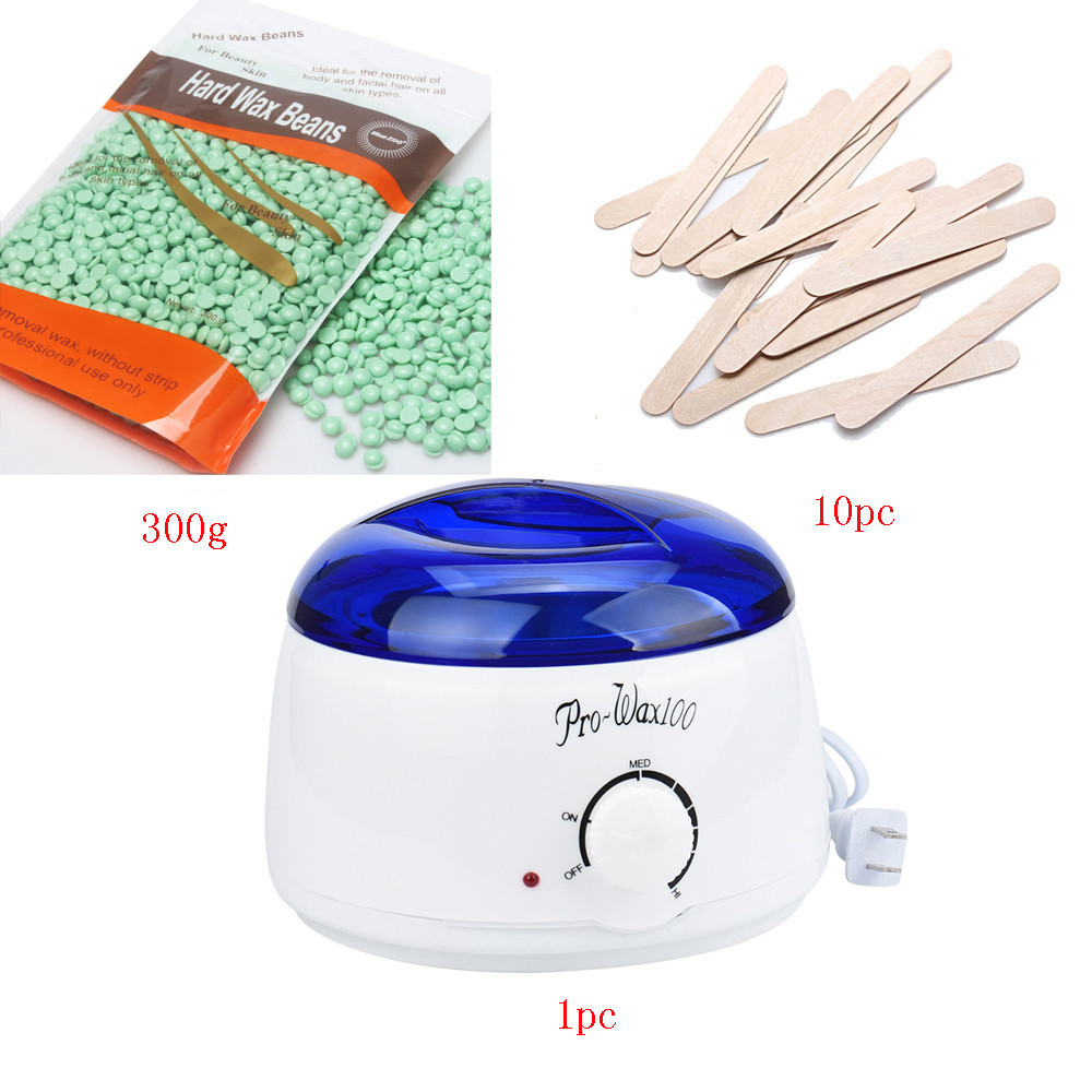 где купить US Plug 220-240V Electric Hair Removal Bean Wiping Sticks Hot 300g Wax Warmer Heater Pot Depilatory Set Machine tea tree Smell дешево
