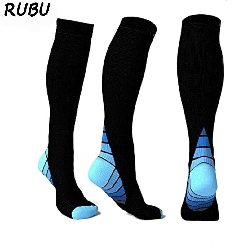 Nett Männer Frauen Bein Ärmeln Socken Sport Unterstützung Stretch Magie Radfahren Kalb Kompression Socken Jogging Marathon Wandern Fußball Unisex Home