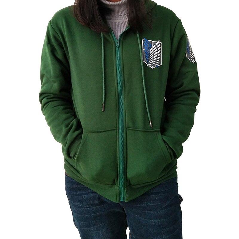 2017 Japan Anime Angriff auf Titan Hoodies Sweatshirts Mantel Halloween Party Eren Levi Hoodies Cosplay Kostüm Legion Kleidung