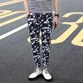 2017 verão finas calças pé calças de camuflagem masculino calças harlan edição han cultivar a moralidade lazer juventude homem calças pé