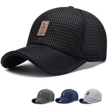 New Arrival Adult Unisex Mesh Baseball Caps Adjustable Cotton Breathable Comfortable Sunshade Sun Hat Snapback Caps Gorras(China)