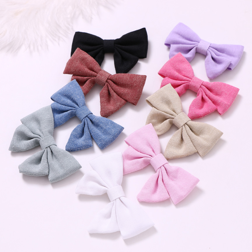 PomPom Trim Felt Velvet Nylon Bow Headband Fabric Photo Prop Hair bow