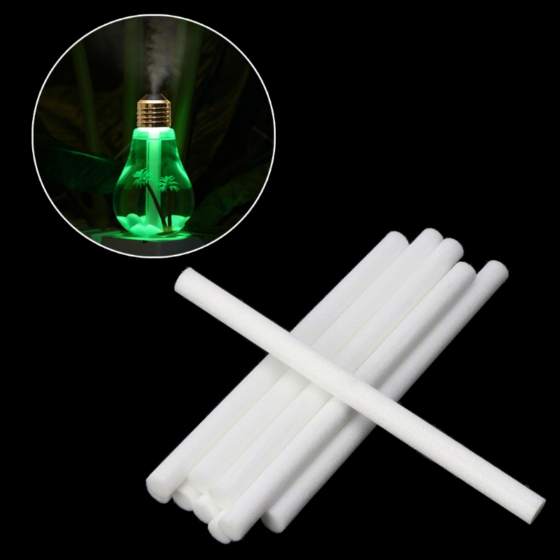 8*130mm Humidifiers Filters Cotton Swab for USB Air Ultrasonic Humidifier 10pcs