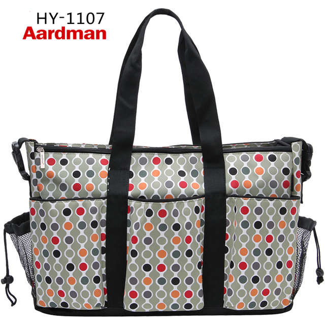 Wholesale Free shipping Aardman Multi-function Khaki Diaper Bag,baby nappy bag organizer
