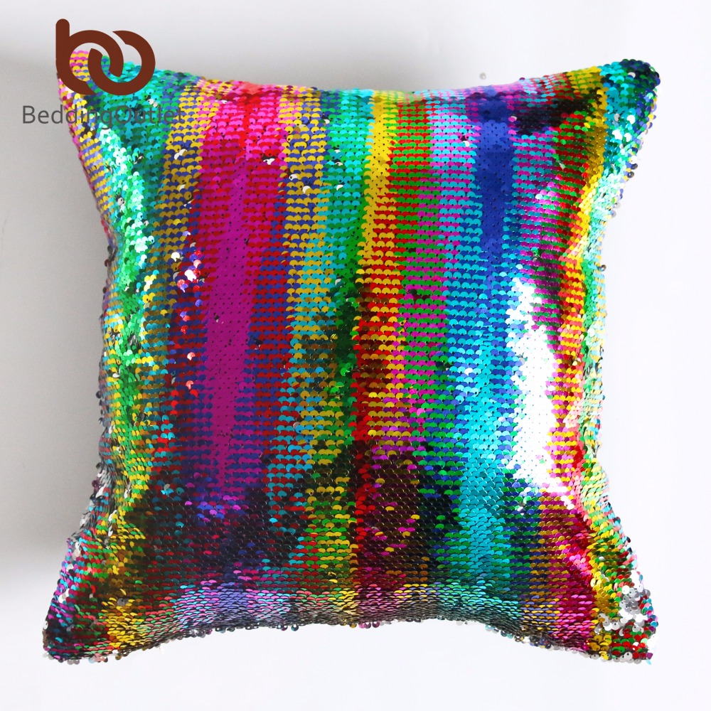 aliexpresscom  buy beddingoutlet diy mermaid sequin cushion  - aliexpresscom  buy beddingoutlet diy mermaid sequin cushion cover magical pinkthrow pillowcase cmxcm color changing reversible pillow case from
