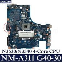 KEFU ACLU9 / ACLU0 NM A311 Laptop motherboard for Lenovo G40 30 G40 Test original mainboarrd N3530/N3540 4 Core CPU