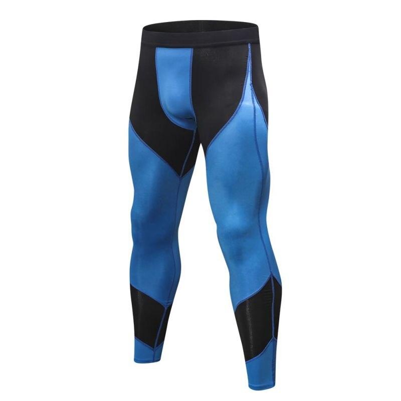 Leggings Mode Männer Leggings Fitness Compression Strumpfhosen Hosen Getäfelten Workout Quick Dry Hohe Elastische Hose Männlichen Hosen Feines Handwerk