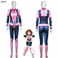 Anime Boku no Hero Academia AsuiTsuyu Yaoyorozu Momo Battle Uniform OCHACO URARAKA Cosplay Women Zentai Jumpsuit Full Bodysuit