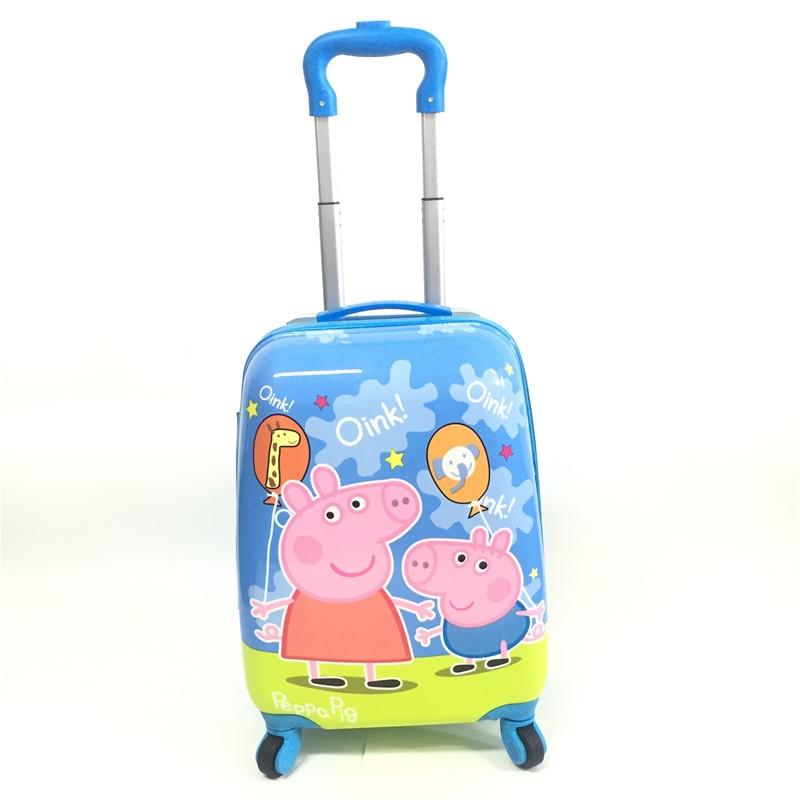Studentski crtani kovčeg 16 inča Djeca usmjerena kotača kolica - Torbe za prtljagu i putovanje - Foto 4