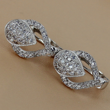 Fleure Esme White Cubic Zirconia cute Silver Plated Earrings R3235 European Jewelry For Women Wedding Party Birthday Top Quality