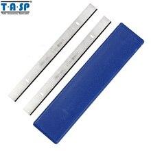 """Tasp 5 pares 8 """"lâmina de plaina de madeira hss 210x16.5x1.5mm espessura plaina faca para erbauer 052 bte"""