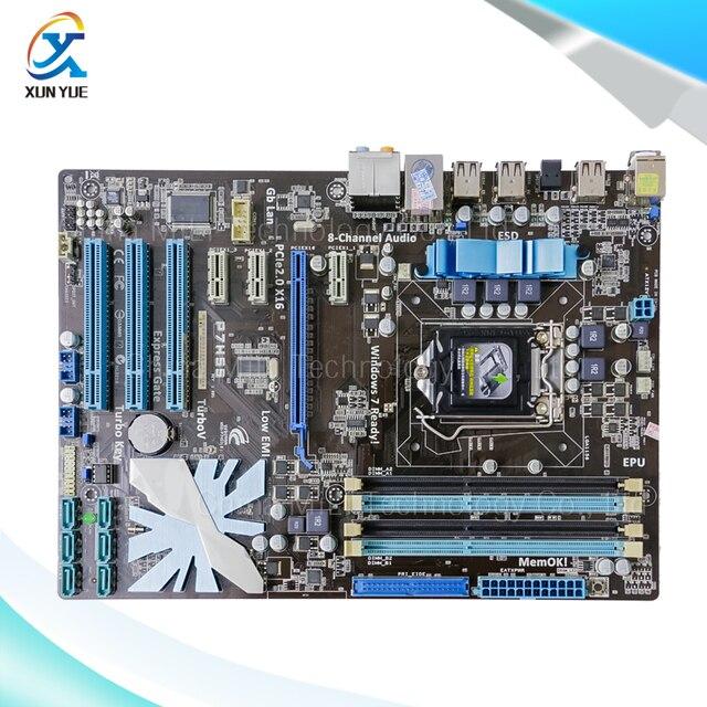 Para asus p7h55 original usado madre de escritorio de intel h55 socket DDR3 ATX LGA 1156 Para i3 i5 i7 E3 En Venta