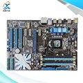 Para asus p7h55 tomada original usado motherboard desktop para intel h55 DDR3 ATX LGA 1156 Para i3 i5 i7 E3 Na Venda