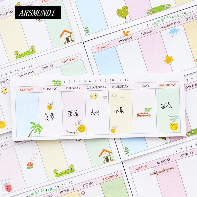 Kawaii Planner Stickers Memo Pad N Times Sticky Notes Cute Notepad For Office Cute Stationery Post it Papeleria School Supplies