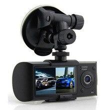 """100% Первоначально автомобильный видеорегистратор двойная камера 2.7 """"TFT ЖК-Дисплей с GPS и 3D G-сенсор Два Объектива Даш Cam Video Recorder регистратор"""