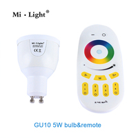 4W Milight GU10 RGB RGBW WW LED Lamp Dimmable LED Light Bulb 2 4G Wireless Touch