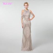 YQLNNE licou longues robes de bal 2019 strass gland sirène perles dos fermeture à glissière formelle robe YQLNNE