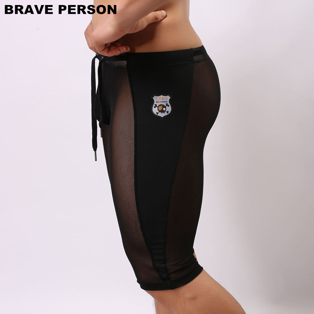 BRAVE PERSON Mäns Sexy Transparent Beach Wear Shorts Man Board - Herrkläder - Foto 3
