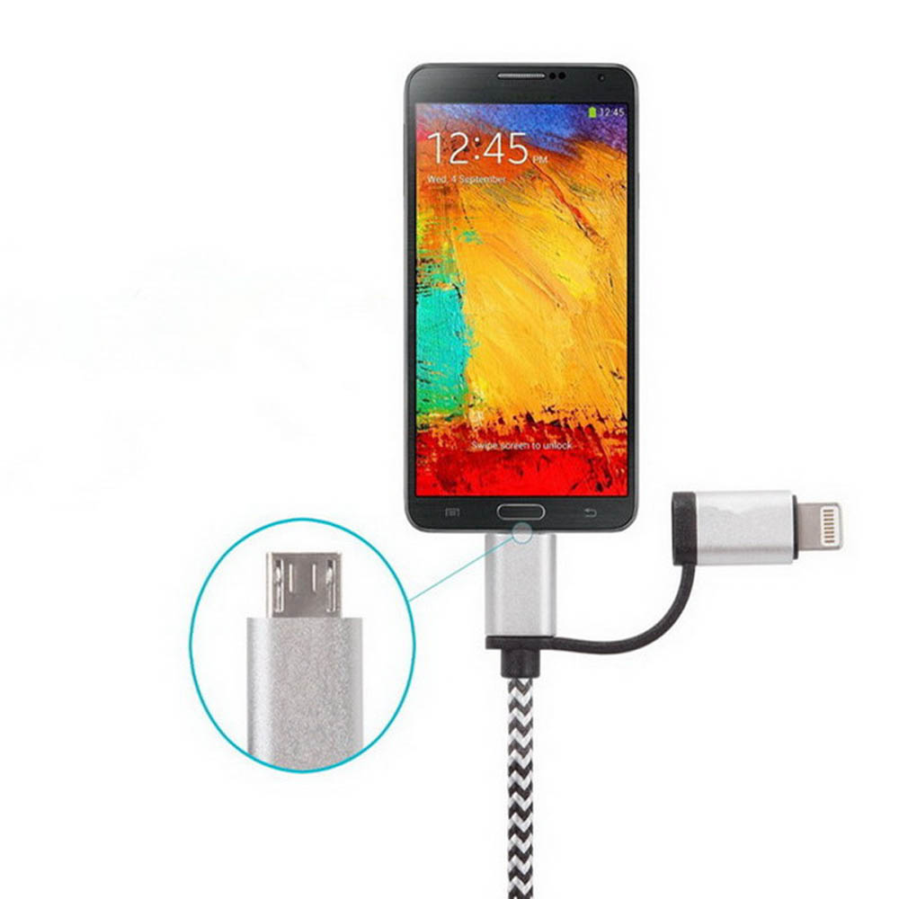 Camera Super Fast Android Phone aliexpress com buy 2 in 1 super fast 4a micro usb cable for android iphone 5 6 6s samsung data charging charger