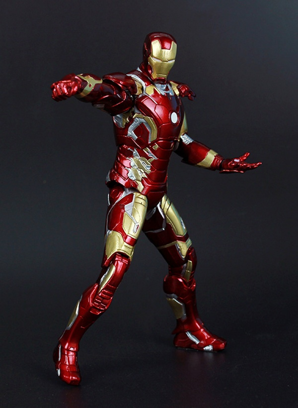 Image 5 - Marvel The Avengers Stark Iron Man 3 Mark VII MK 42 43 MK42 MK43 PVC Action Figure Collectible Model Toys 18cm KT395model toytoy markthe avengers -