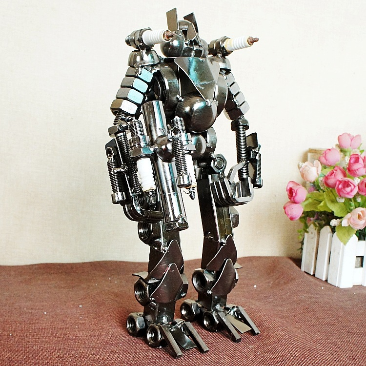 Hobby Collectibles Robot Warrior Toy Diecast Anime Figure Useless Metal Recycling Resource Reuse Environmentally Children Toys