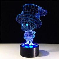 One Piece Tony Tony Chopper 3D Led Light Table Lamp Anime One Piece RGB 7 Color