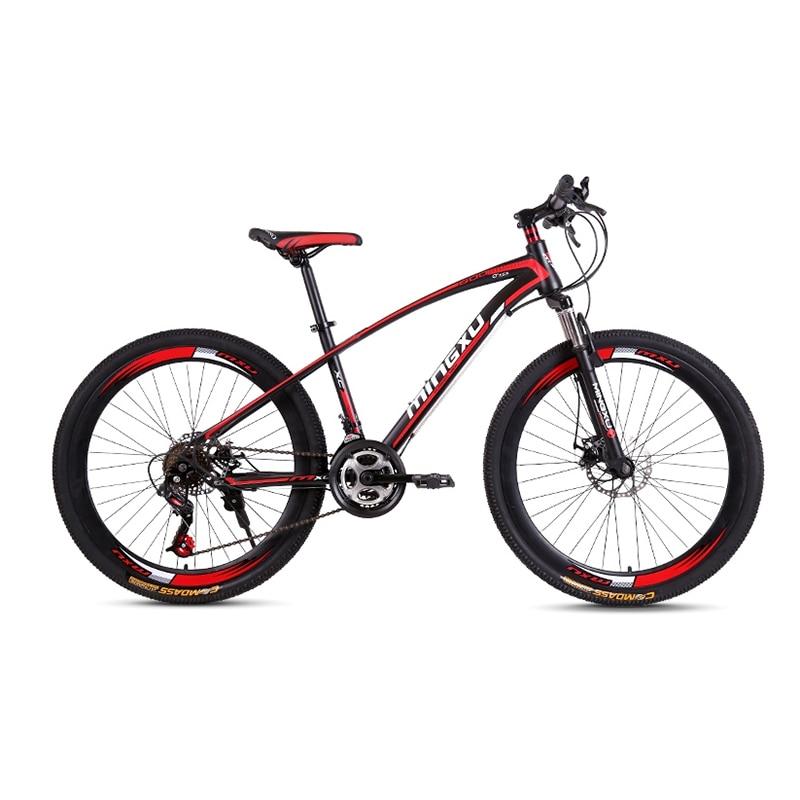 Mountain Bike High Carbon Steel Frame 21-Speed 26-Inch 30-Spoke Wheel Adult Cross-Country