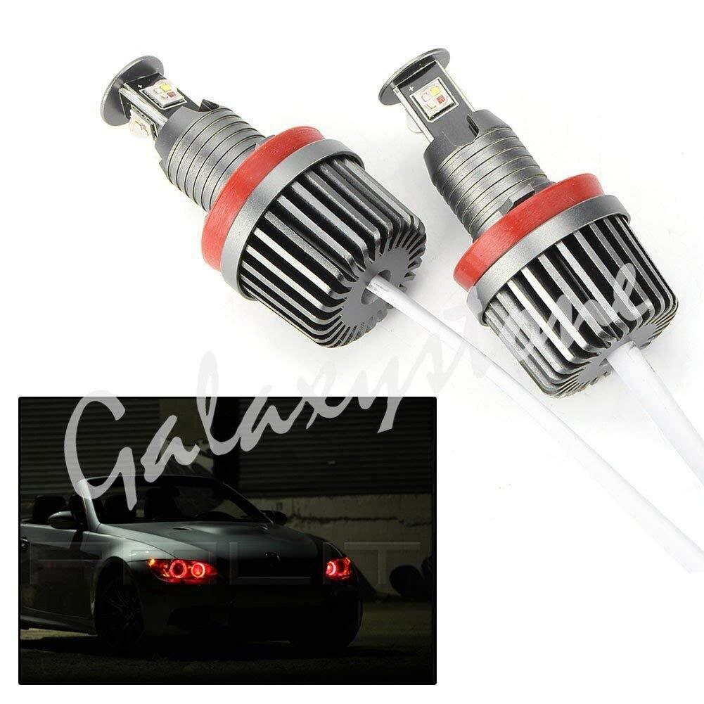 120 W H8 WIFI APP contrôle RGB LED qui change de couleur Angel Eyes lumières pour 2008-2012 1-série E82/E87 & 2008-2010 5-série E60