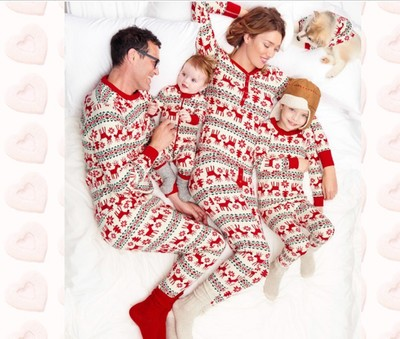 Family Christmas Pajamas Set for Father font b Mother b font Daughter Son Family Matching Look
