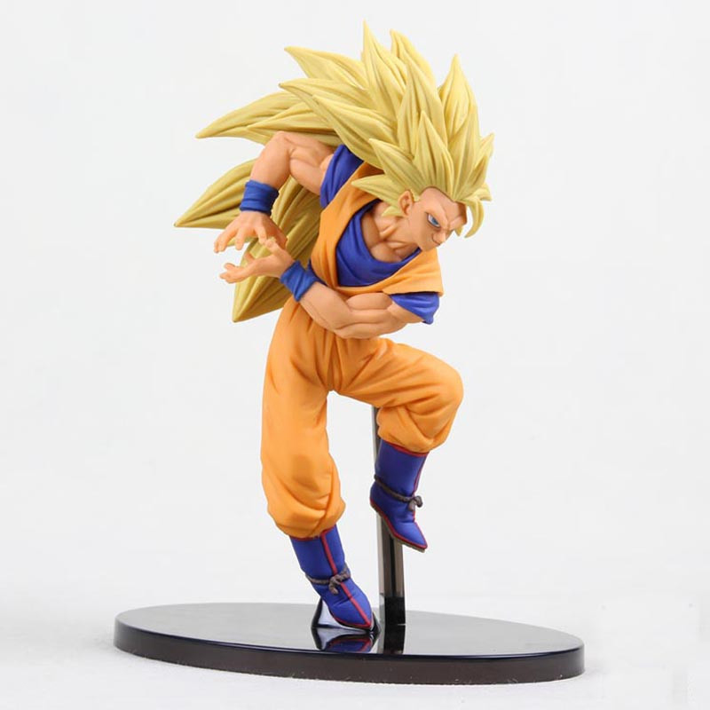 20cm dragon ball Super saiyan three Battle damage Edition Son Goku Kakarotto action figure toys collection christmas toy