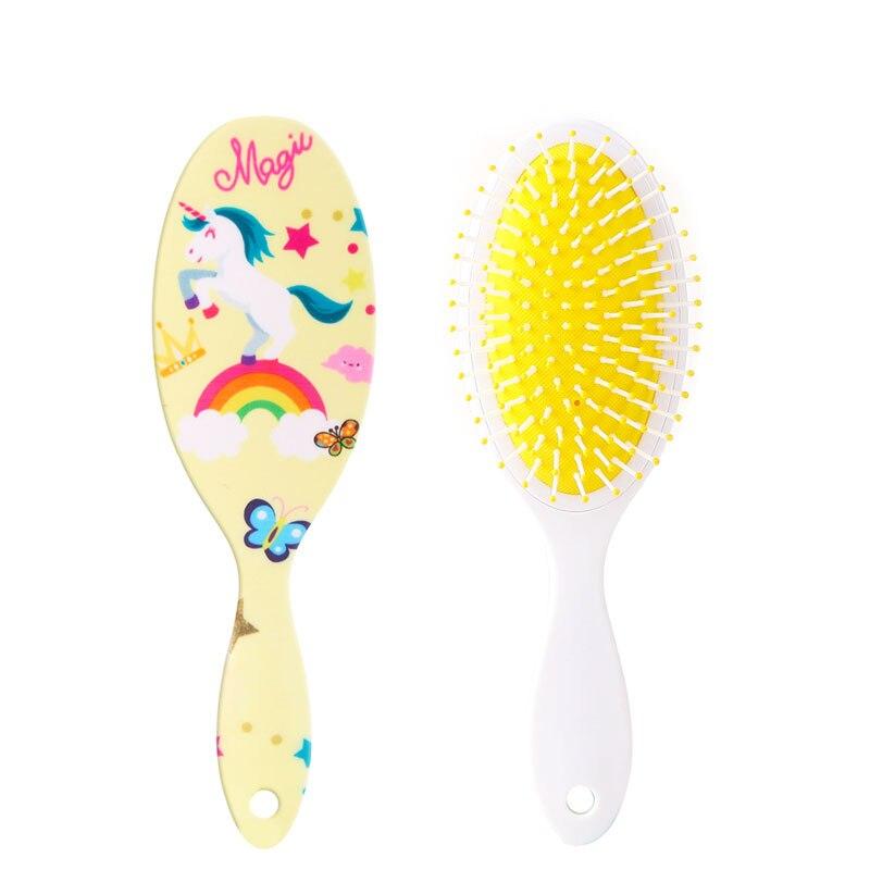 Unicorn Animal Anti-static Hair Brush Massage Comb Shower Wet Detangle Hair Brush Salon Hair Styling Tools Four Colors