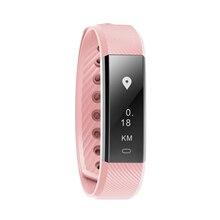 ID115HR Bluetooth Спорт сердечного ритма Браслет фитнес-трекер шаг счетчик монитор активности будильник браслет