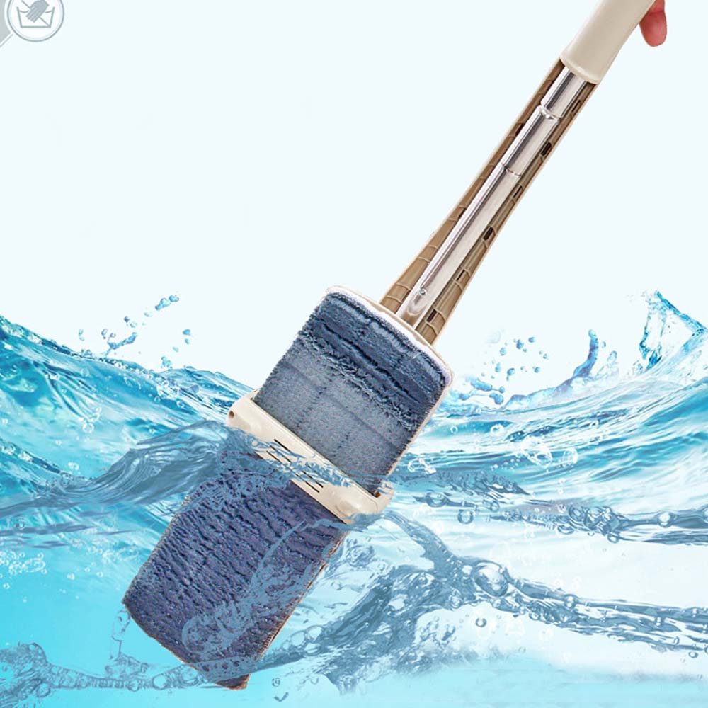 Flat Mop Free Hand Washing Stainless Steel Handle Spin Mop Home House Office Cleaning Tool Microfiber Pad Kitchen Floor Clean